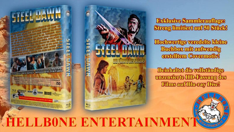 Steel Dawn Cover Blue Dune Limitiert 50 Stück HBE Hartbox