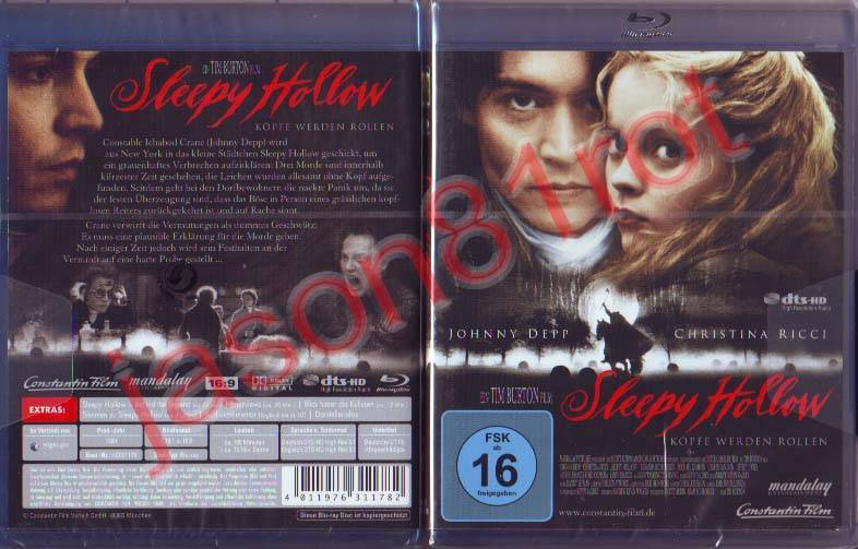 Sleepy Hollow / Blu Ray Disc / NEU OVP uncut Johnny Depp