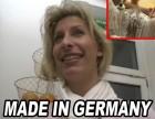 Deutsche Hausfrau rasiert sich vor laufender Kamera die Musc