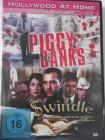 2 Filme Piggy Banks & Swindle - Fälschung EURO Banknoten