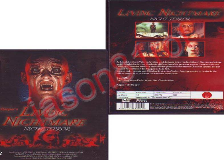 Living Nightmare / Tobe Hooper / DVD NEU OVP uncut