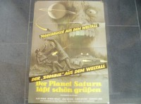 PLANET SATURN LÄSST SCHÖN GRÜSSEN - ORIGINAL KINOPLAKAT A1