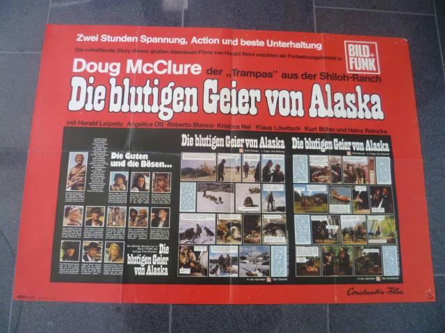 DIE BLUTIGEN GEIER VON ALASKA -ORIGINAL KINOPLAKAT A1
