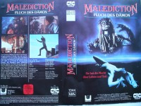 Malediction - Fluch des Dämon ...Horror - VHS  !! ... FSK 18