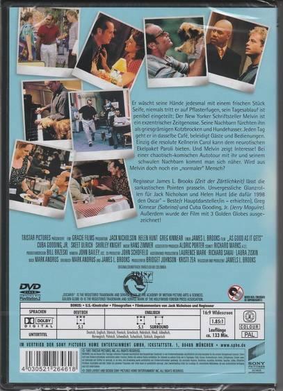 Besser geht's nicht *DVD*NEU*OVP* Jack Nicholson