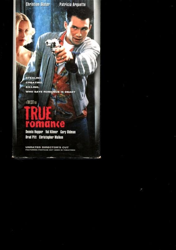 TRUE ROMANCE - Christian Slater - PAPPBOX VHS Englisch