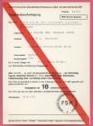 FSK-Karte zum Trailer NACHT DER REITENDEN LEICHEN 1972