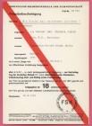 FSK-Karte zum Film DIE NACHT DER REITENDEN LEICHEN 1972