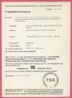 FSK-Karte zum Film DIE RÜCKKEHR DER REITENDEN LEICHEN 1973