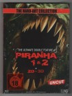 Piranha 1+2 - Blu-Ray Mediabook - 3D + 2D - neu - uncut!!