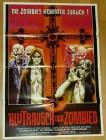 Filmplakat Blutrausch der Zombies A1 Nachdruck