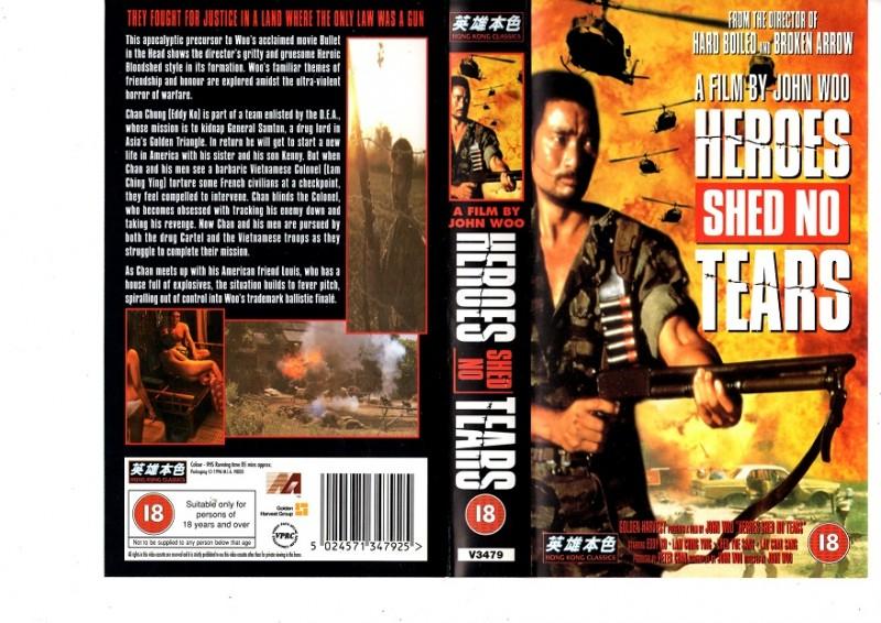 HEROES SHED NO TEARS - John Woo -Ausländisch - VHS
