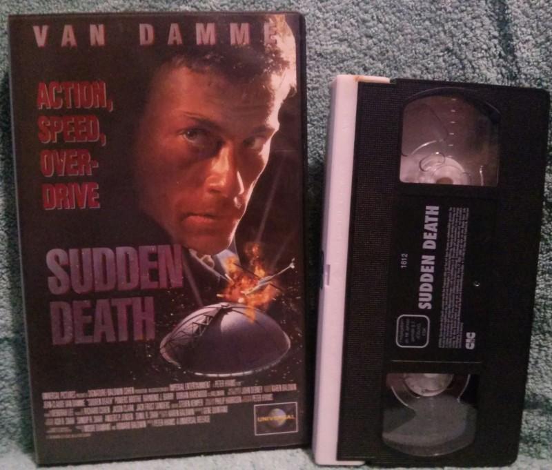 SUDDEN DEATH VHS van Damme Uncut (D35)