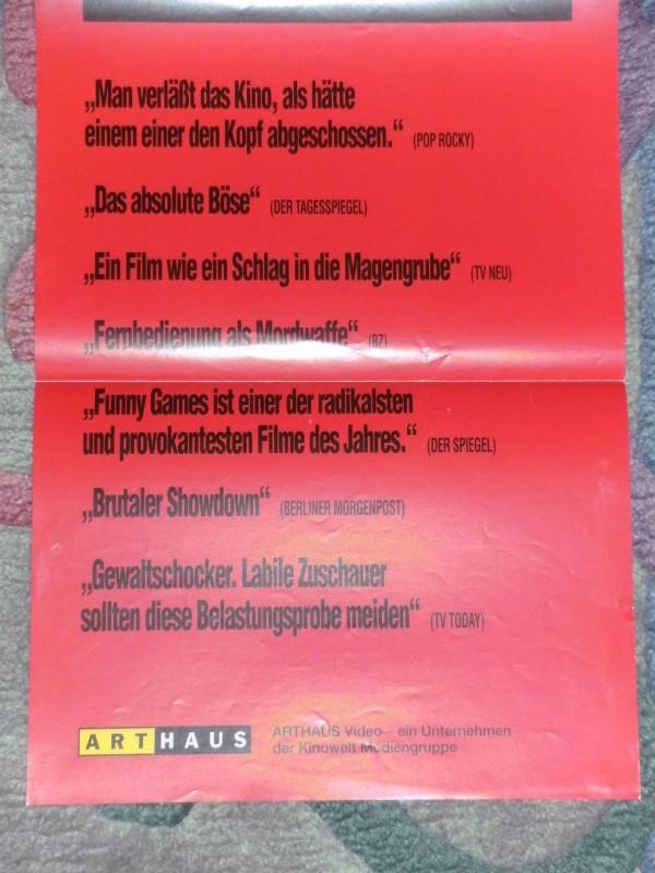 Funny Games (Merchandise Poster, Werbe-Plakat, Sondergröße)