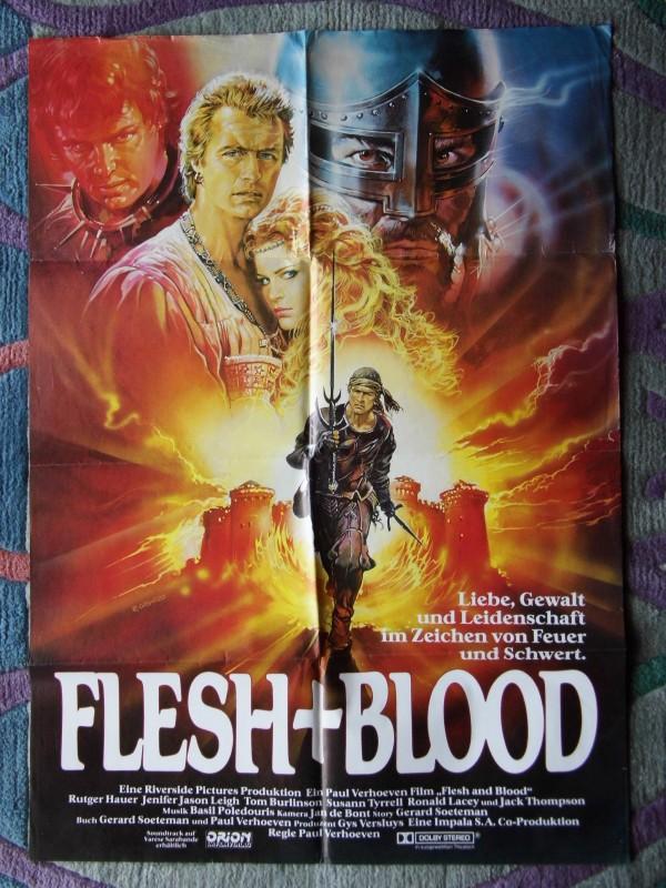 Flesh and Blood (Fleisch und Blut, Rutger Hauer, Poster)