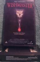 Wes Craven Wishmaster VHS Uncut Presse Kassette (E30)