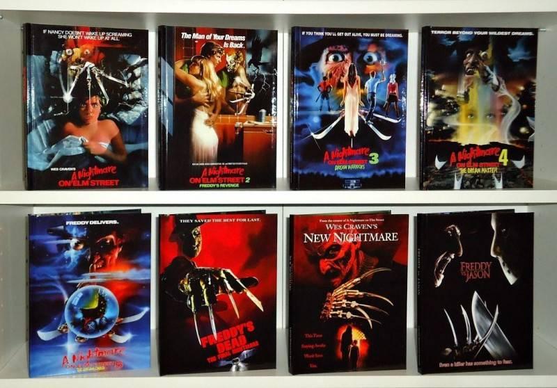 Nightmare on Elm Street 1-7 + Freddy vs. Jason Mediabooks ...