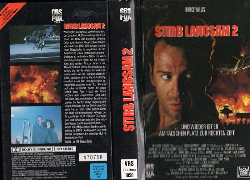 STIRB LANGSAM 2 - 20 CENTURY FOX gr.HARTBOX - VHS