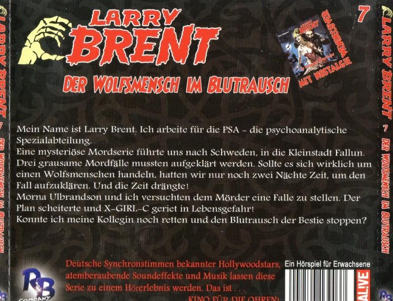 Larry Brent - Folge 7 Der Wolfsmensch im Blutrausch