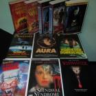 11 x VHS * Horror * Aura, Maniac Cop, Wishmaster usw.