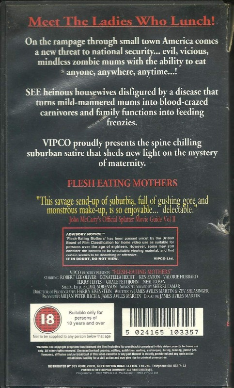 Flesh-eating mothers (VHS) Originalfassung!