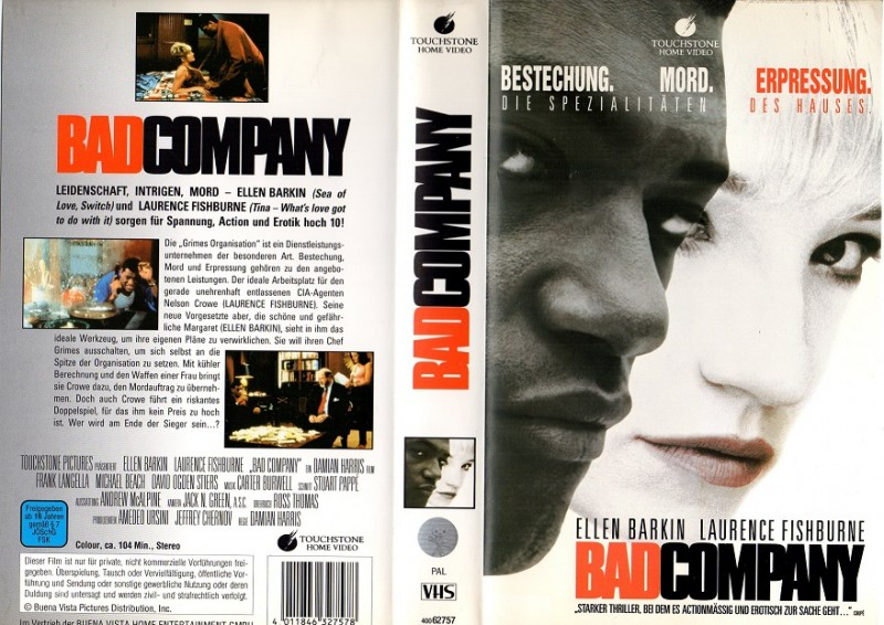 BAD COMPANY - TAUCHSTONE gr.Cover-VHS
