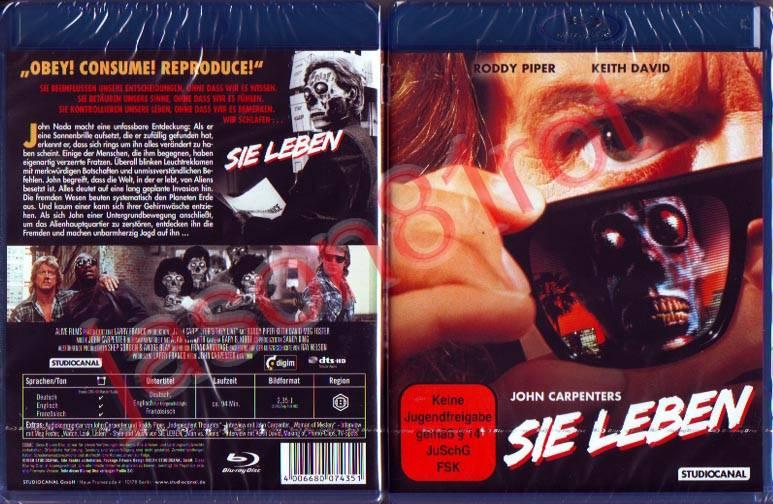 Sie leben - Blu Ray NEU OVP uncut John Carpenter