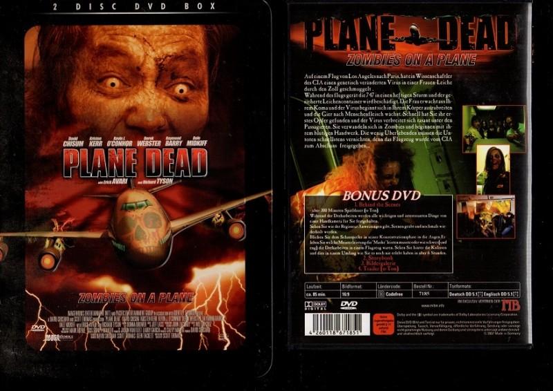 PLANE DEAD - ZOMBIE - PRÄGE COVER METALBOX 2 DISC DVD