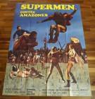 SUPERMÄNNER GEGEN AMAZONEN Poster, Frankreich, riesig!