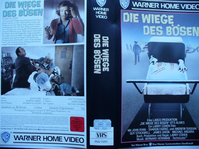 Die Wiege des Bösen ...  Horror - VHS !!!  ...    FSK 18