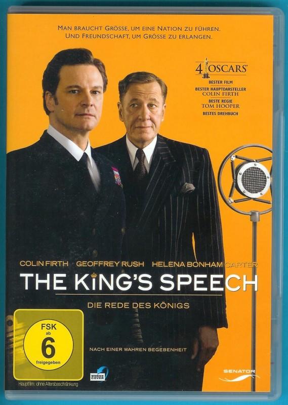 The King´s Speech - Die Rede des Königs DVD fast NEUWERTIG