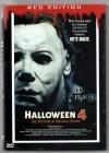 DVD kl. Hartbox Hardbox Halloween 4  Red Edition Brutal Gut