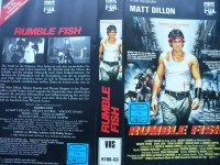 Rumble Fish ... Matt Dillon, Mickey Rourke... VHS !!!