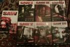 SAW 1-7 komplett,uncut Österreich,13 DVDs,1 Blu-ray,1 CD