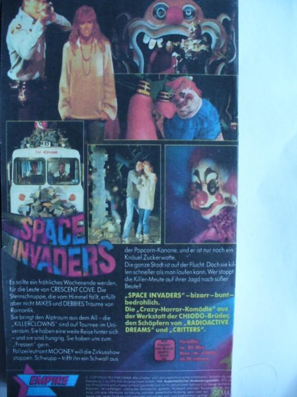 Space Invaders ... Grant Cramer  ...  VHS !!! ...     FSK 18