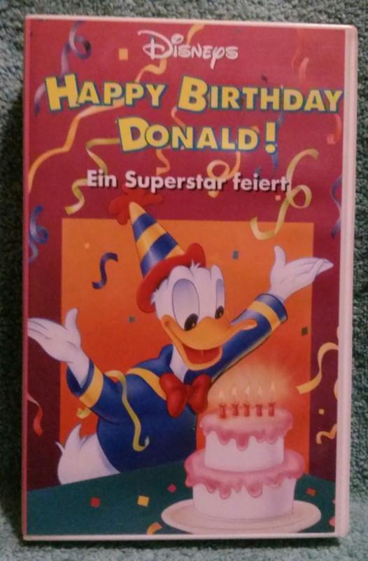 Happy Birthday Donald! Ein Superstar feiert VHS Disney rar!