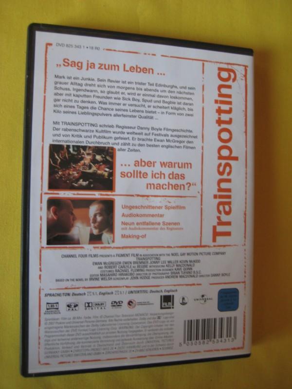 Trainspotting Sag ja zum Leben… Ewan McGregor DVD Wie neu