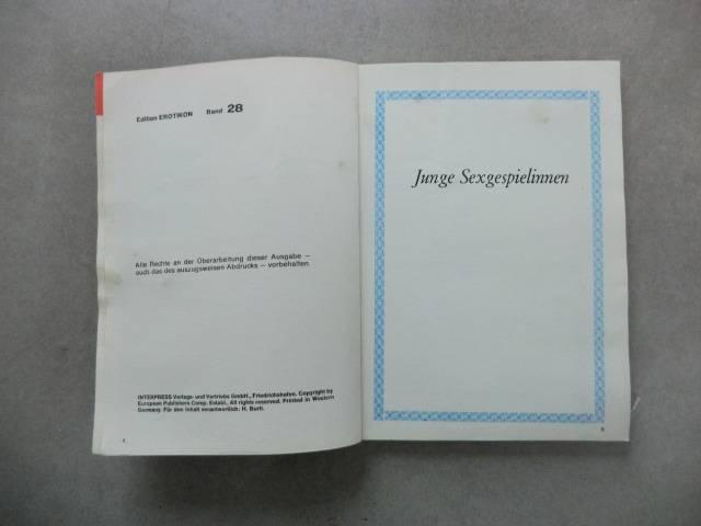 JUNGE SEXGESPIELINNEN  - Erotikon Band 28