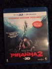 Piranha 2 - 3 D + 2 D Version - Blu Ray -Uncut Top!