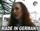 Deutsches Mädchen auf der Strasse angesprochen und zu Hause