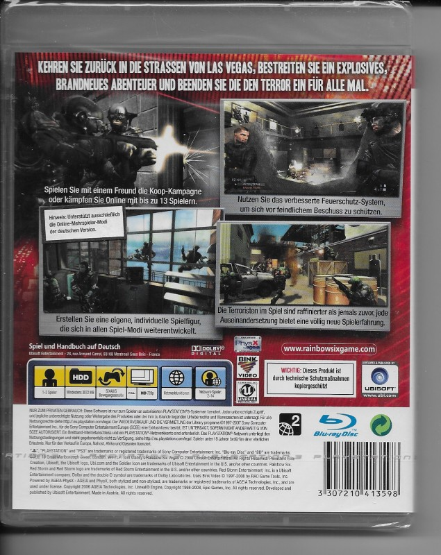 rainbow six vegas 2 ps3 spiel deutsch neu kaufen. Black Bedroom Furniture Sets. Home Design Ideas