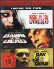 ZOMBIE 3er Pack Blu-ray Romero - Dawn Day Night of the Dead