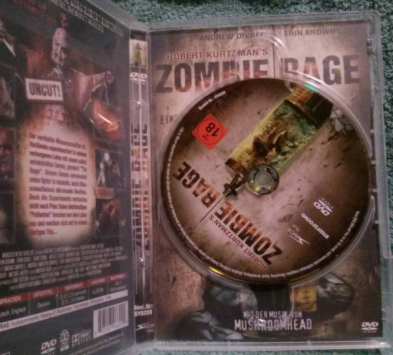 Zombie Rage Dvd Uncut Robert Kurtzman (E)