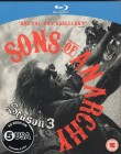 SONS OF ANARCHY Season 3 - Blu-ray Import 4-Disc set UK