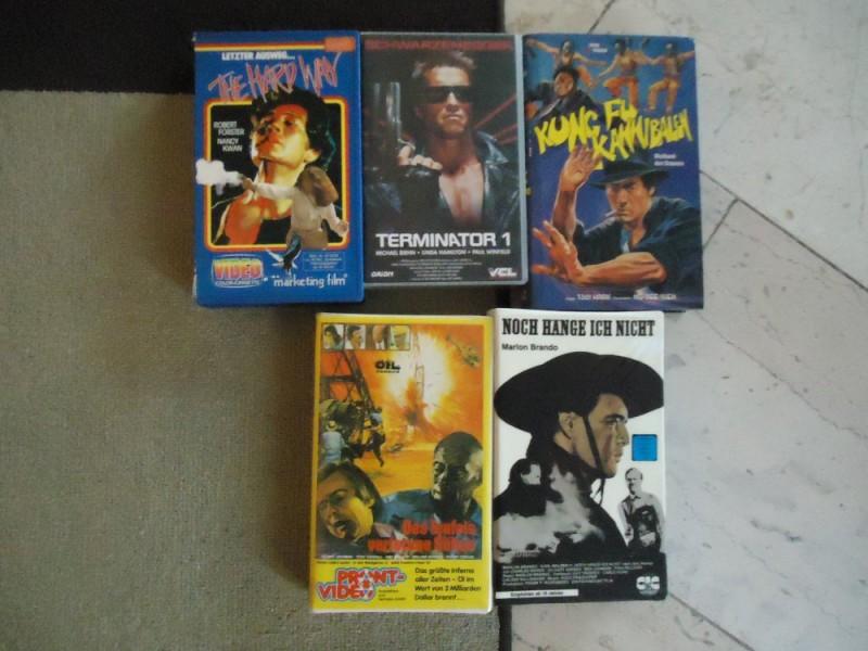 VHS-PAKET - HARD WAY - NOCH HÄNGE ICH NICHT - TERMINATOR