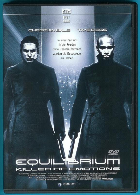 Equilibrium DVD Taye Diggs, Christian Bale, Sean Bean NEUW.