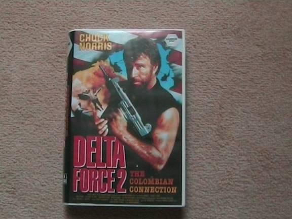 VHS Delta Force 2 (1990, uncut, Chuck Norris)