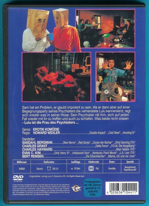 Loving Lulu DVD Sandahl Bergman, Charles Grant NEUWERTIG
