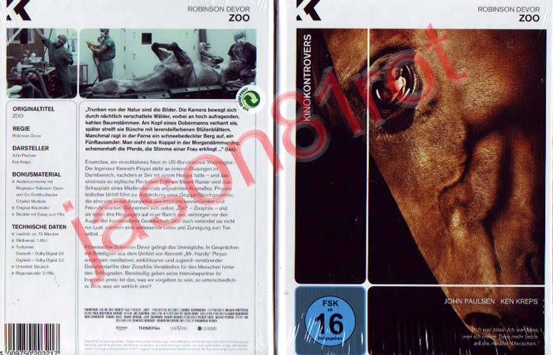 Zoo - KinoKontrovers Bavaria Nr. 2 / DVD NEU OVP uncut