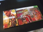 BORDERLANDS, MAX PAYNE 3, THE CURSED CRUSADE- 3 x XBOX 360
